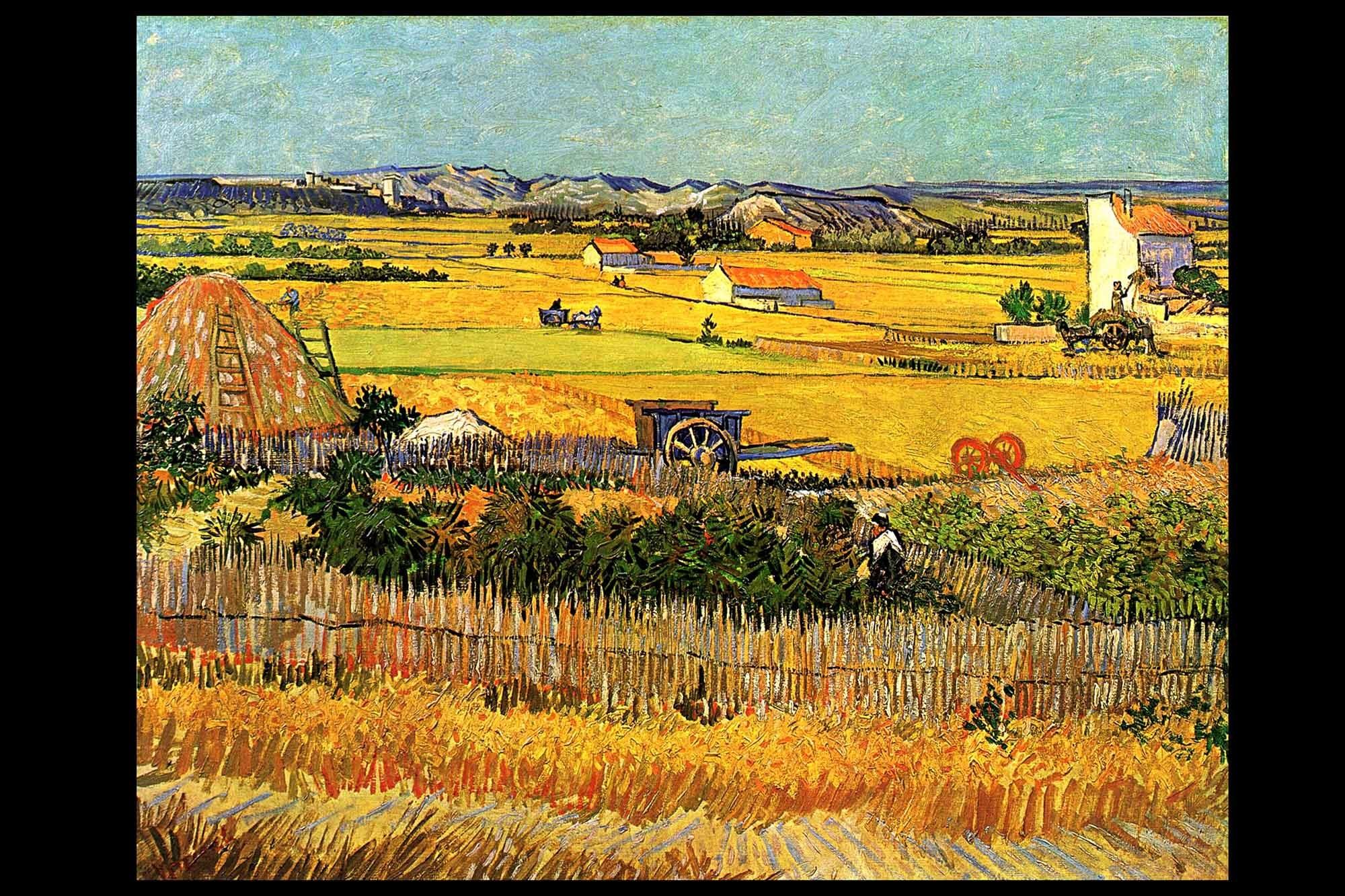 Background Gogh Starry Vincent Desktop Van Night