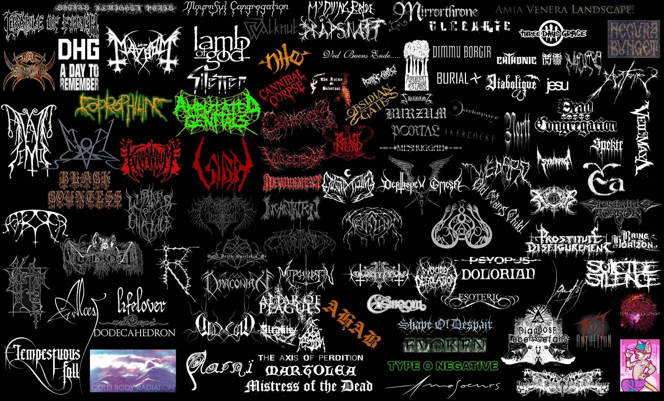Punk Metal Bands Logo Collage