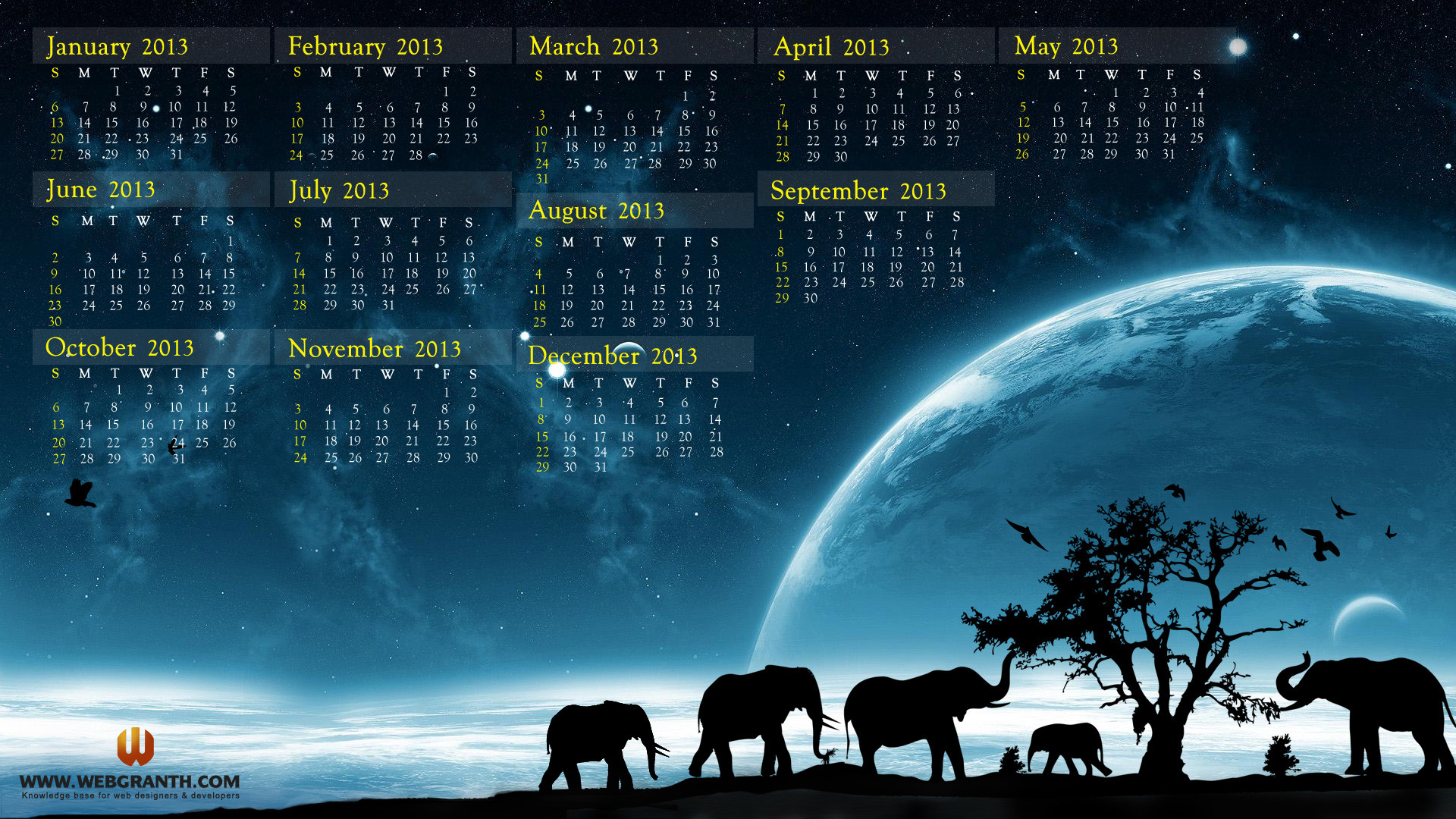 Wallpapers With Calendar 2018 57 Images