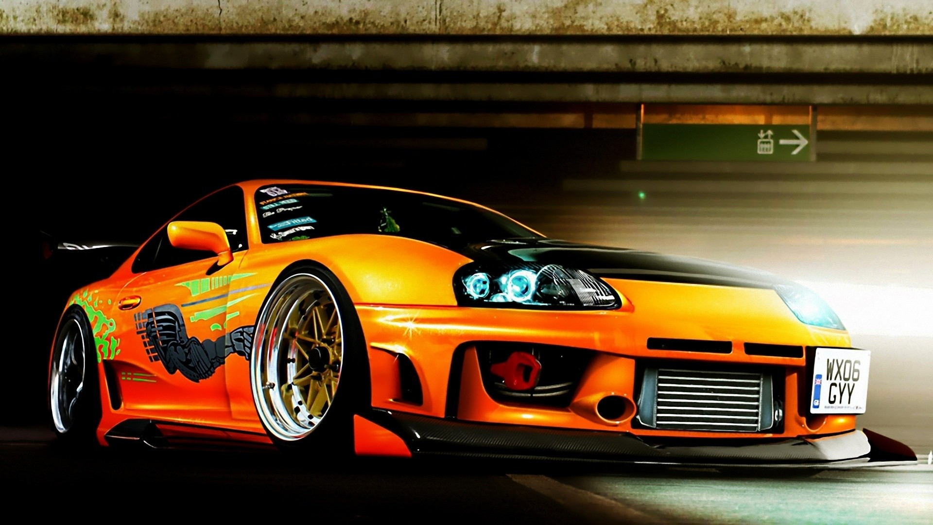 Neon Lights Cars