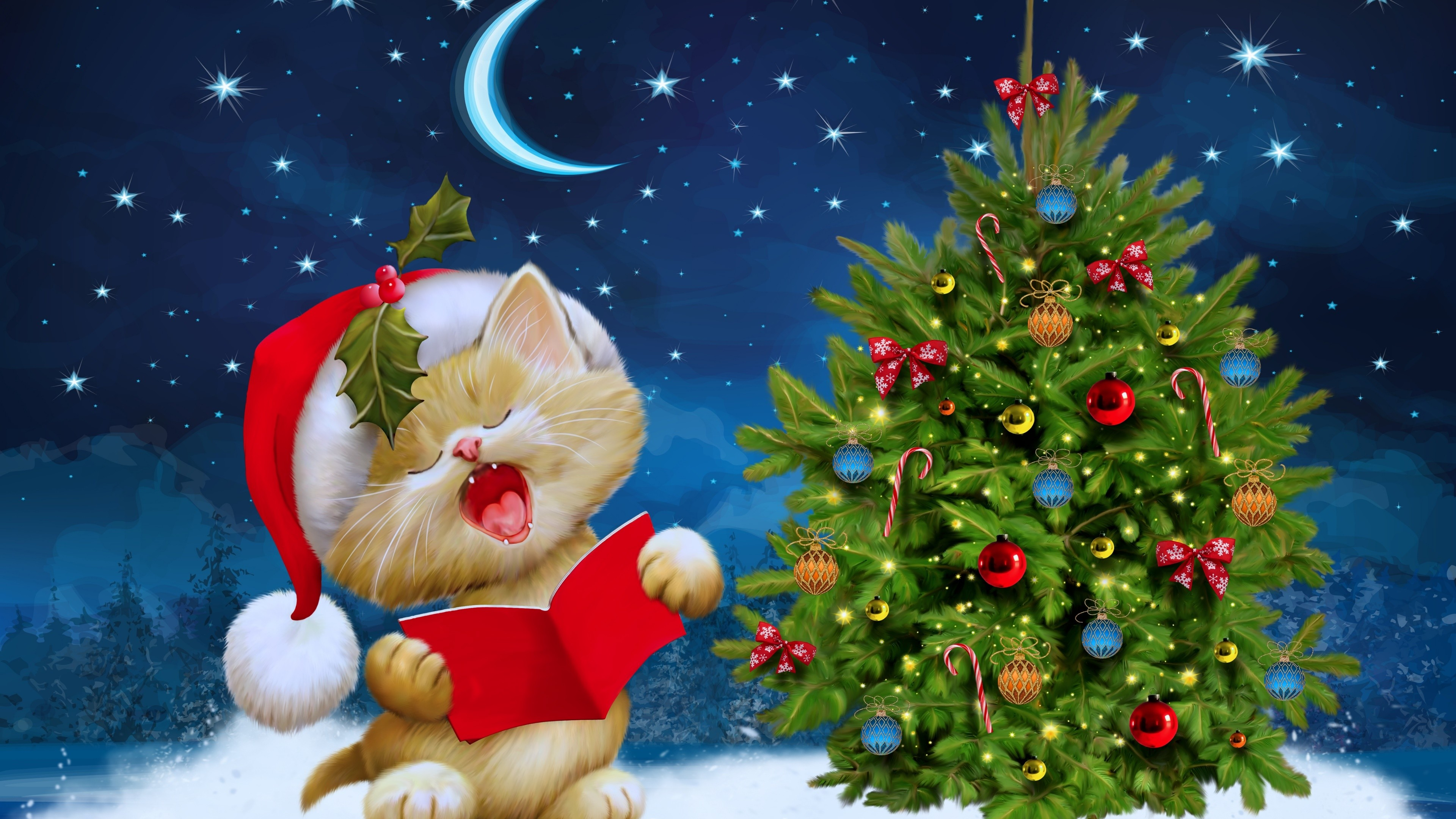 Hello Kitty Christmas Wallpaper  62  images  3840x2160 Awesome Hello Kitty Christmas Pictures   Hello Kitty Christmas  Wallpapers