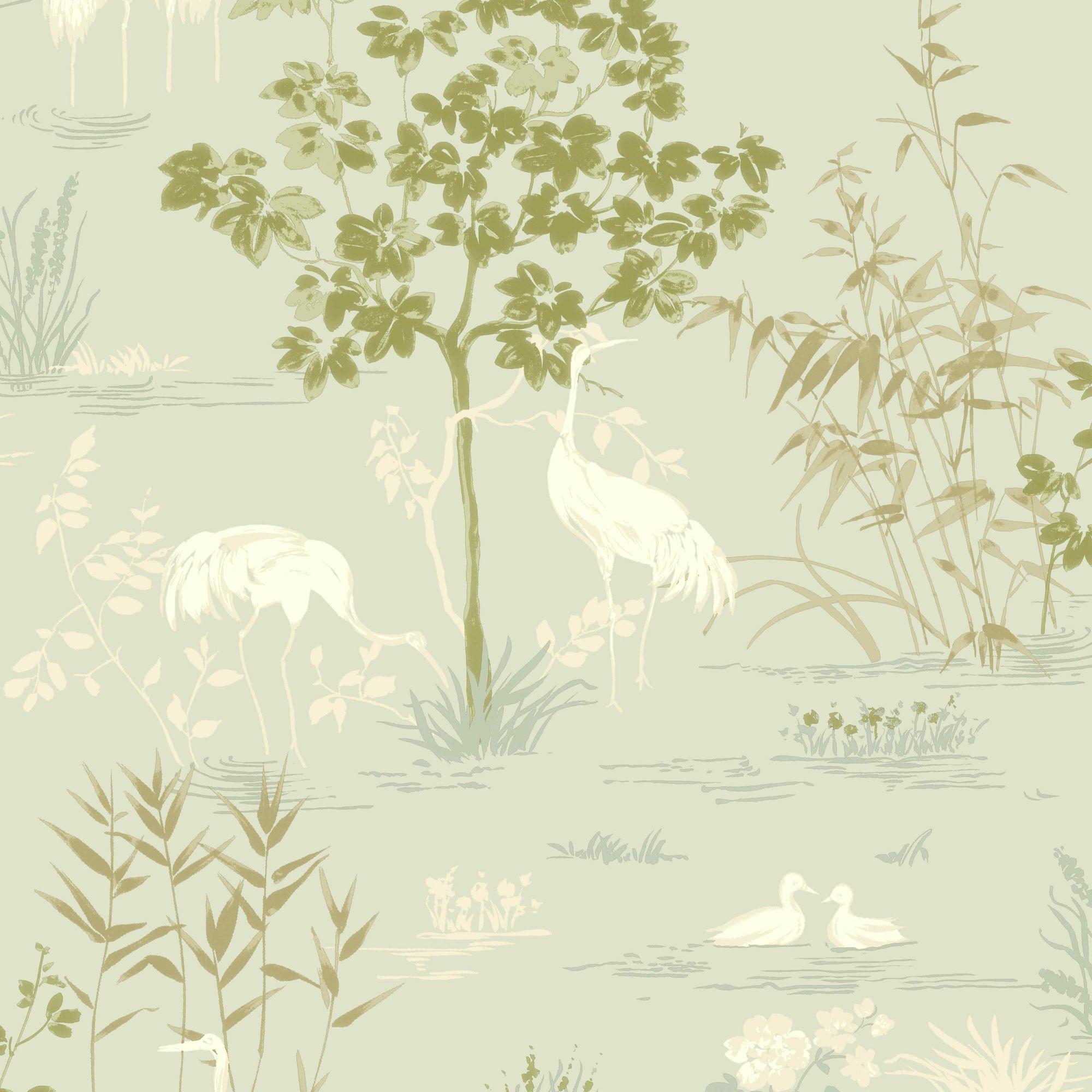 Wallpaper White Striped Quad