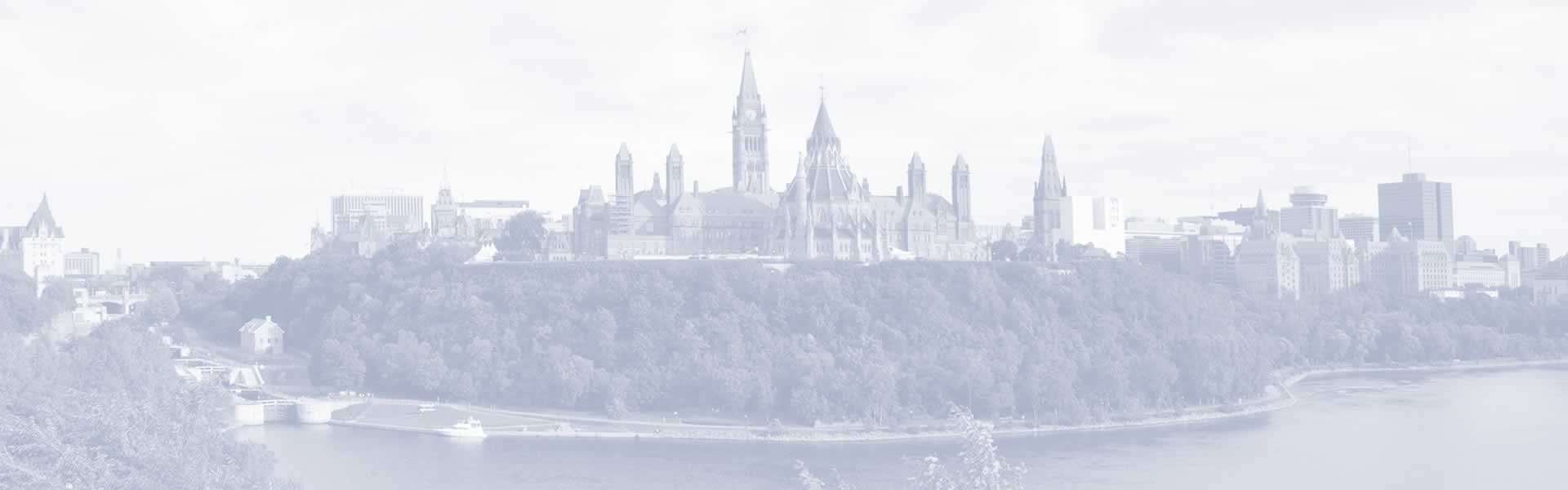 Parliament of Canada sitting majestically on the Ottawa River
