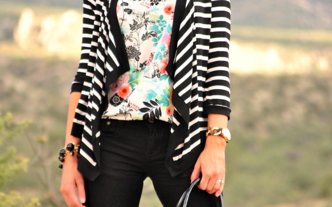 I Feel Pretty   in Floral + Stripes
