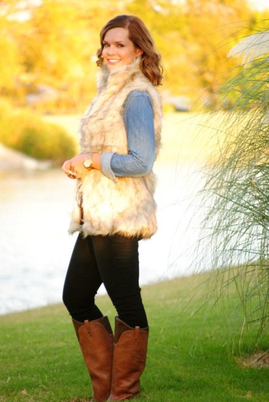 fur-vest-chambray-black-jeans-boots-2