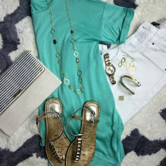 white-jeans-mint-tee