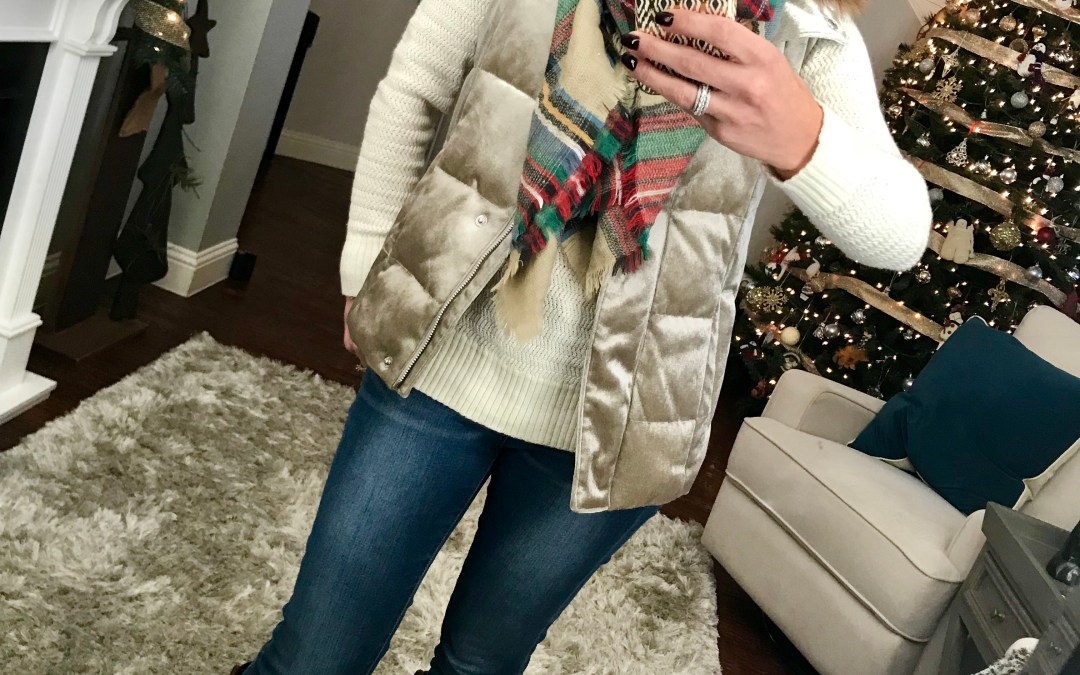 SAHMonday:  A Puffer Vest and a Plaid Scarf