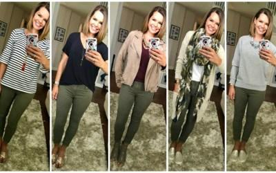 Five Ways to Wear Olive Jeans