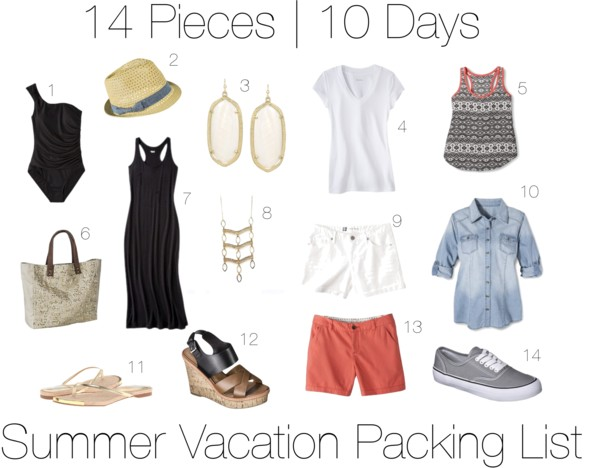 Ten Day Summer Vacation Packing List