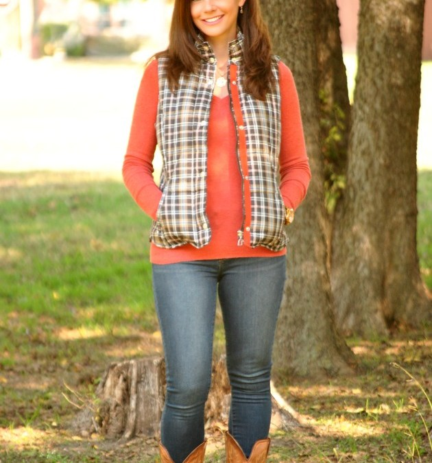 Fall Favorite | Plaid Puffer Vest