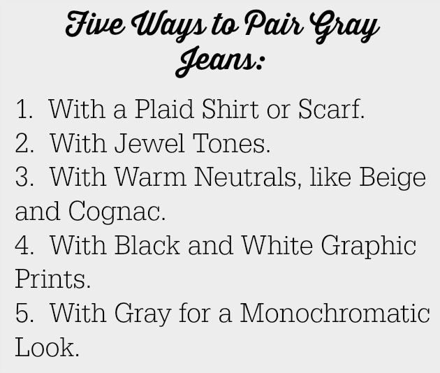 Fall Transitional Style | Gray Jeans