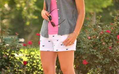 I Feel Pretty | Chambray, Pink and Whales