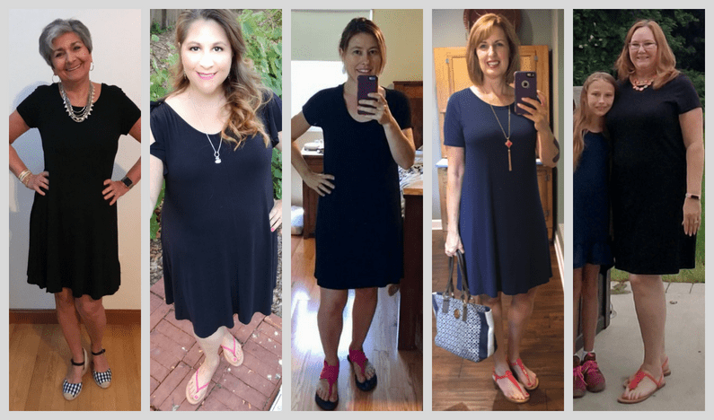 How to wear a casual black dress: add fun shoes.