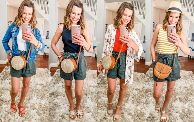 4 Ways to Style Paper Bag Waist Shorts