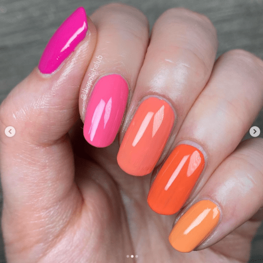 ZOYA POLISH IN BYRDIE, WINNIE, ELLA, CORA, AND SAWYER, Multicolor Spring and Summer 2021 Nail Trends and Colors