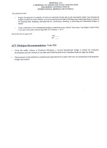 Ballot Language along with AFT Michigan's voting recommendation and reasoning for Proposal 6