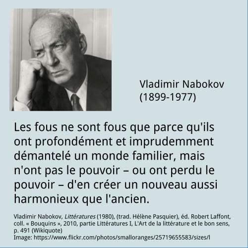 Vladimir Nabokov – Citation