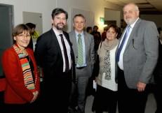 Kerstin Huber, Jochen Fritz, Arno Wicki, Jefe de Misión Adjunto de la Embajada de suiza en Chile, Marie Christine Reinhardt y Ricardo Gevert