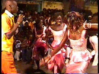 Singer Ndongolo performed at the debute of Sing Sing Juniors, July, 2004.