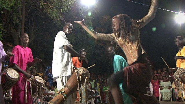 Ndeye Thioni dances at sabar party