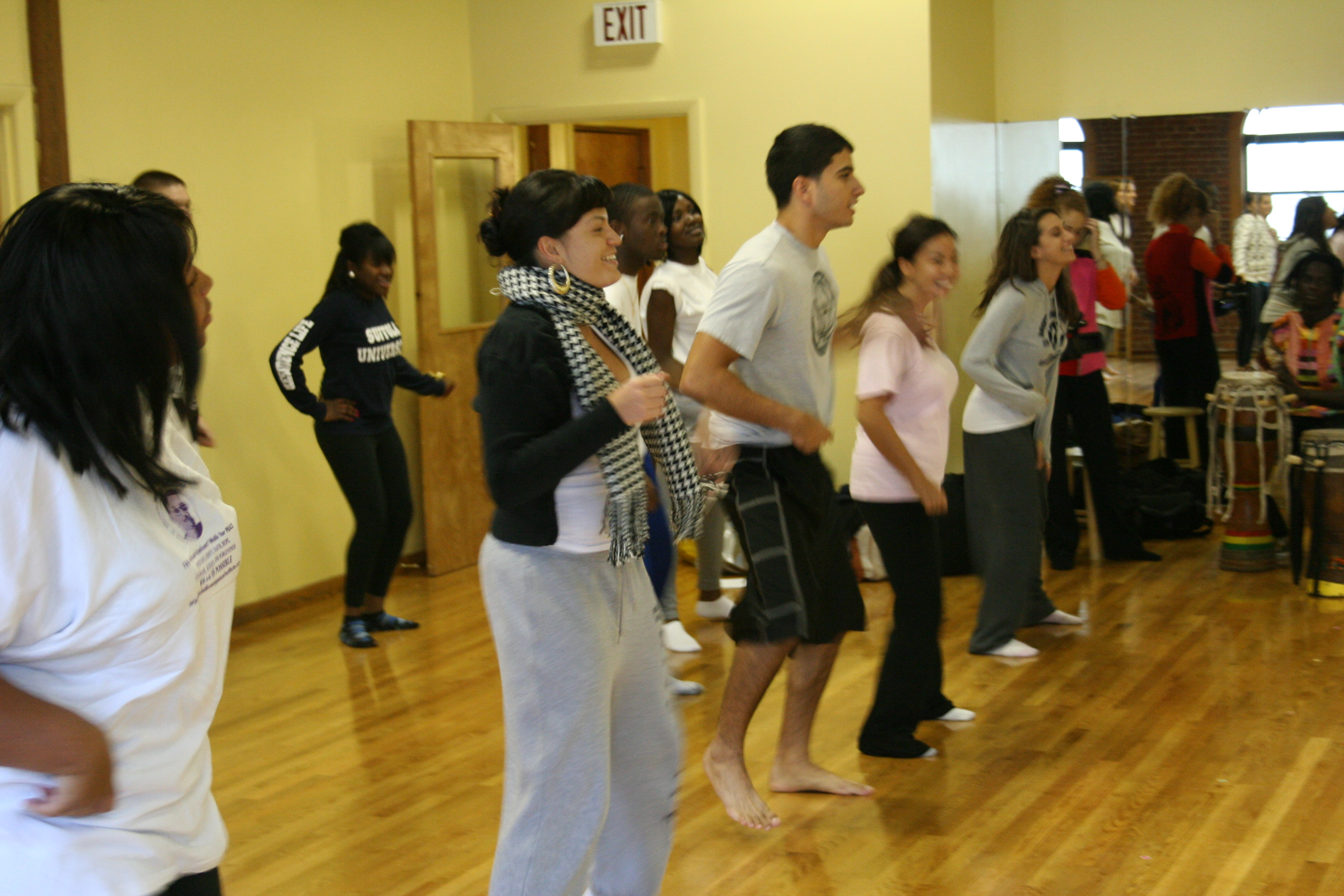 Students in the BLKST 263 dance class.