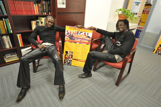 Aziz and Malick relaxing in the History department.