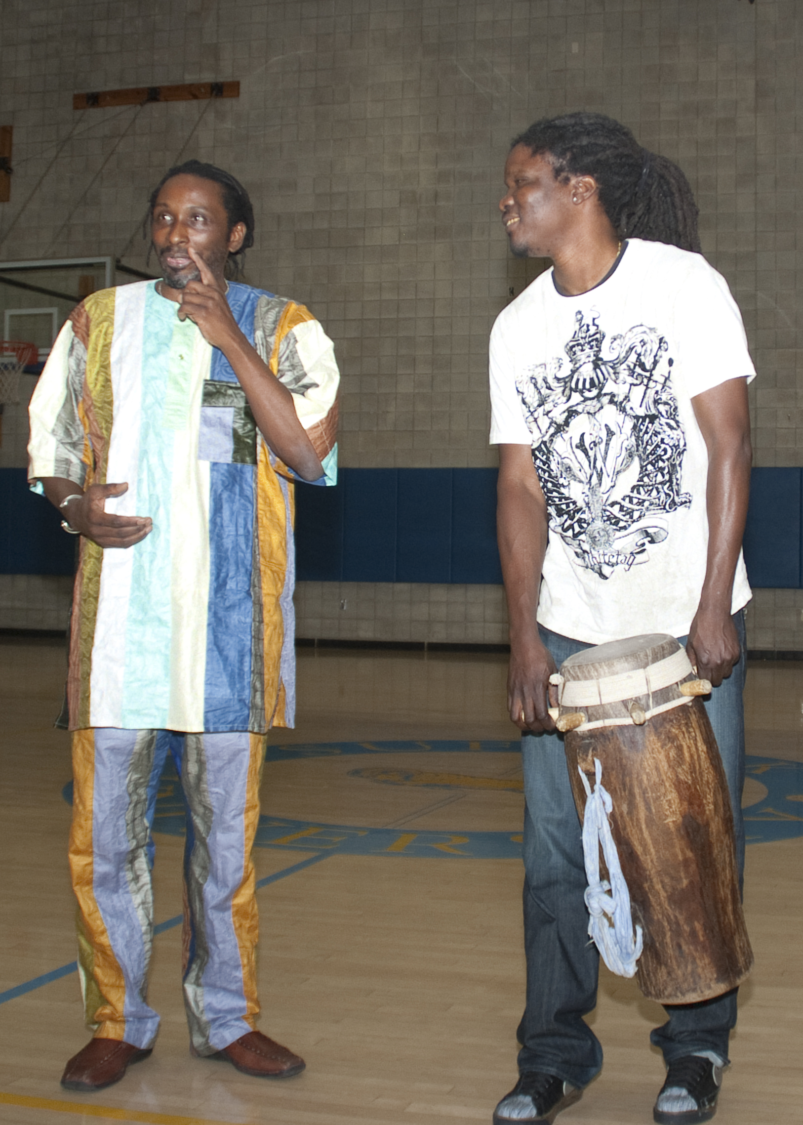 Prof. Robert Bellinger and Lamine Toure.