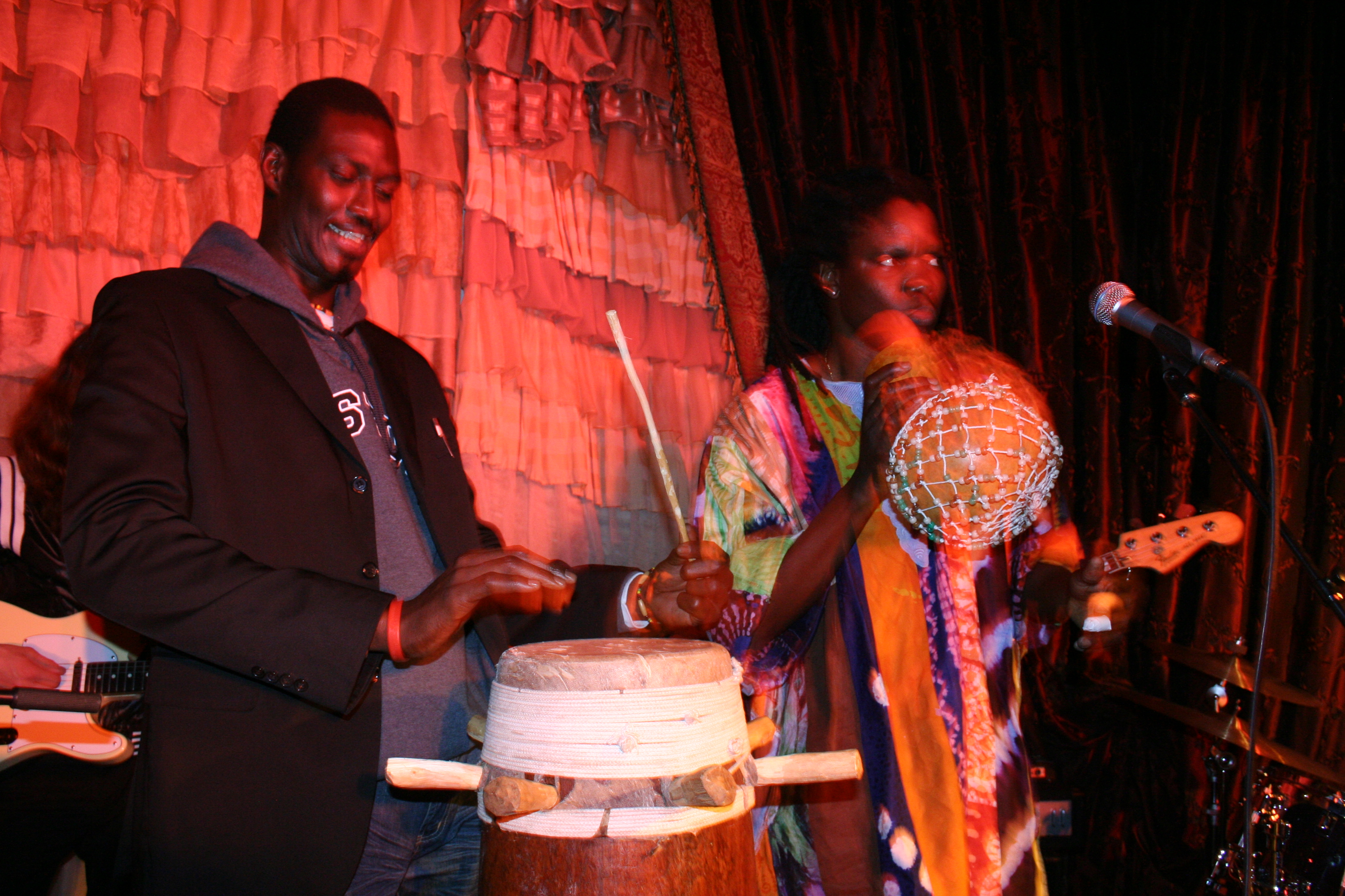 Moustapha Faye plays with Lamine toure and Group Saloum, at the Beehive.