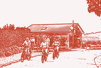 Illustration Fahrradtour