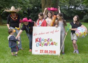 Kinderolympiade 2016 - Ankündigung Foto: Susanne Golnick