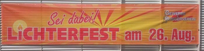 Banner Lichterfest Foto: Peter Heldt