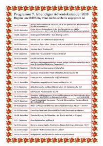 Programm lebendiger Adventskalender 2018