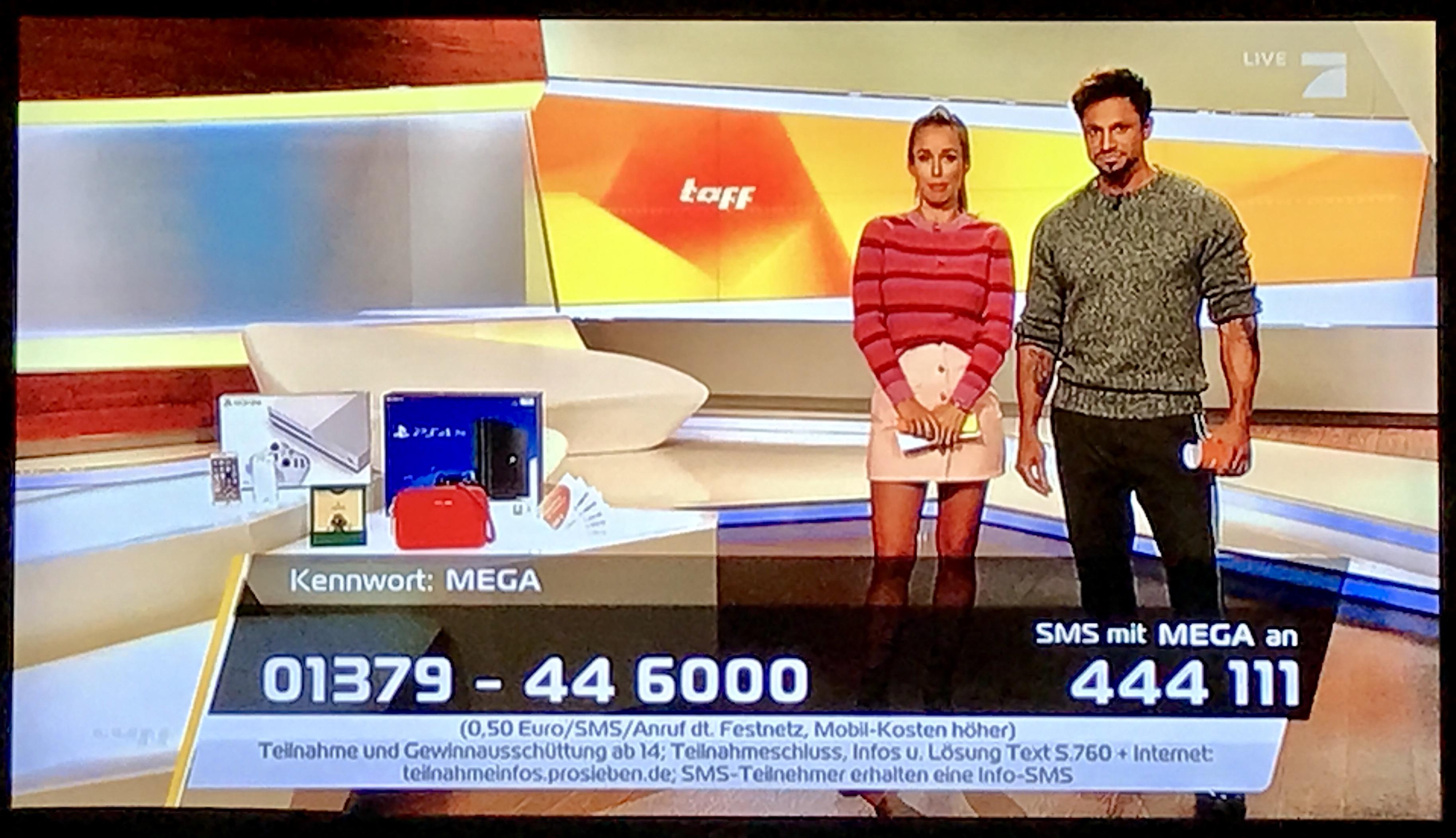 tv gewinnspiel während der sendung schickt man die sms