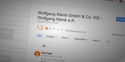 Wolfgang Klenk Google Rezensionen