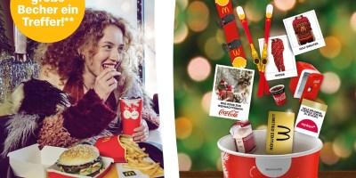 Coca Cola Becher Gewinncode Gewinnspiel bei McDonalds