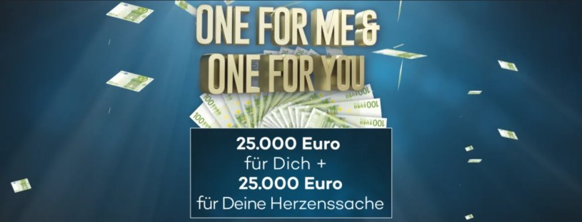 One for me One for You Herzenssache Gewinnspiel