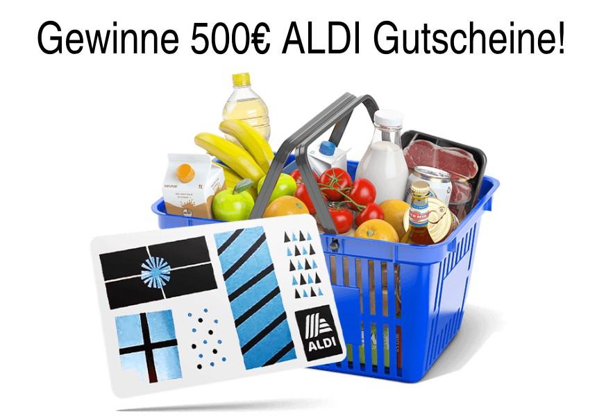 Gewinne 500 € ALDI-Gutscheine!