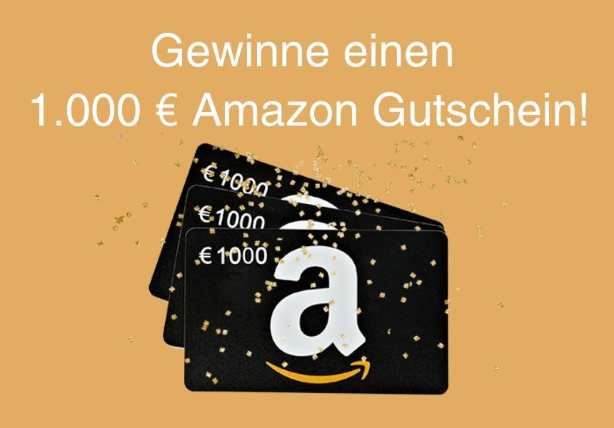Gewinne einen 1.000 EUR Amazon-Gutschein