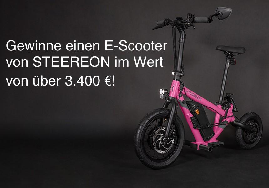 Gewinne einen E-Scooter von STEEREON