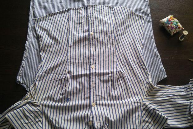 restyle men's shirt DIY (11)