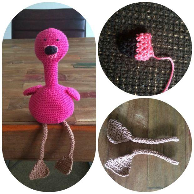 een flamingo haken tutorial
