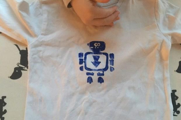 t-shirt stempelen diy 4