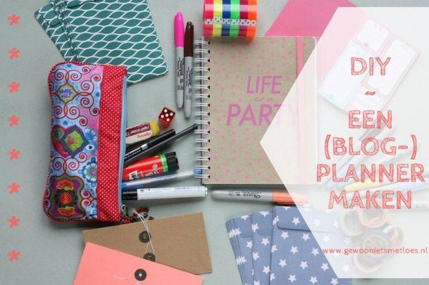 een blogplanner maken