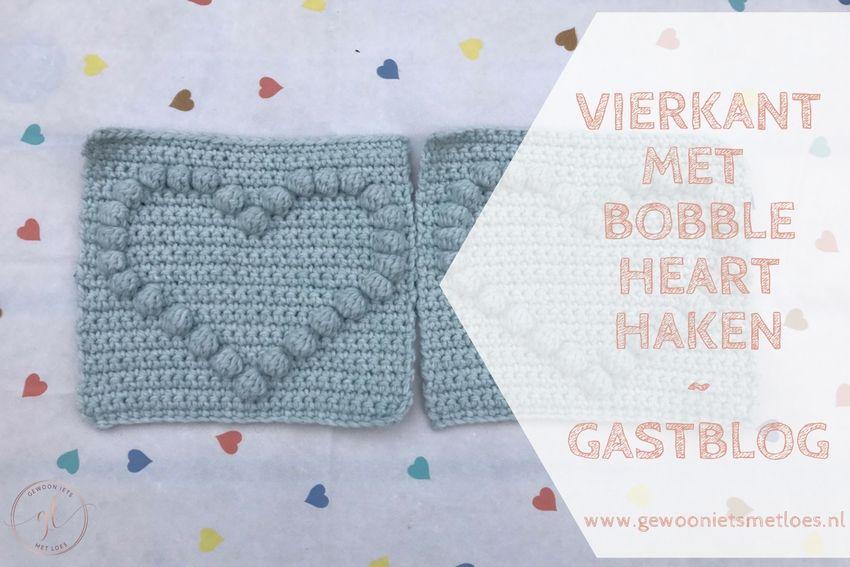 [:nl]Vierkant met bobble heart haken | Gastblog[:en]een hartje haken[:]