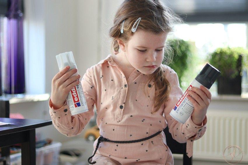 een lamp verven met permanent spray van edding (3)