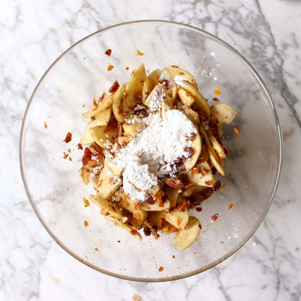 vegan apple crumble recept