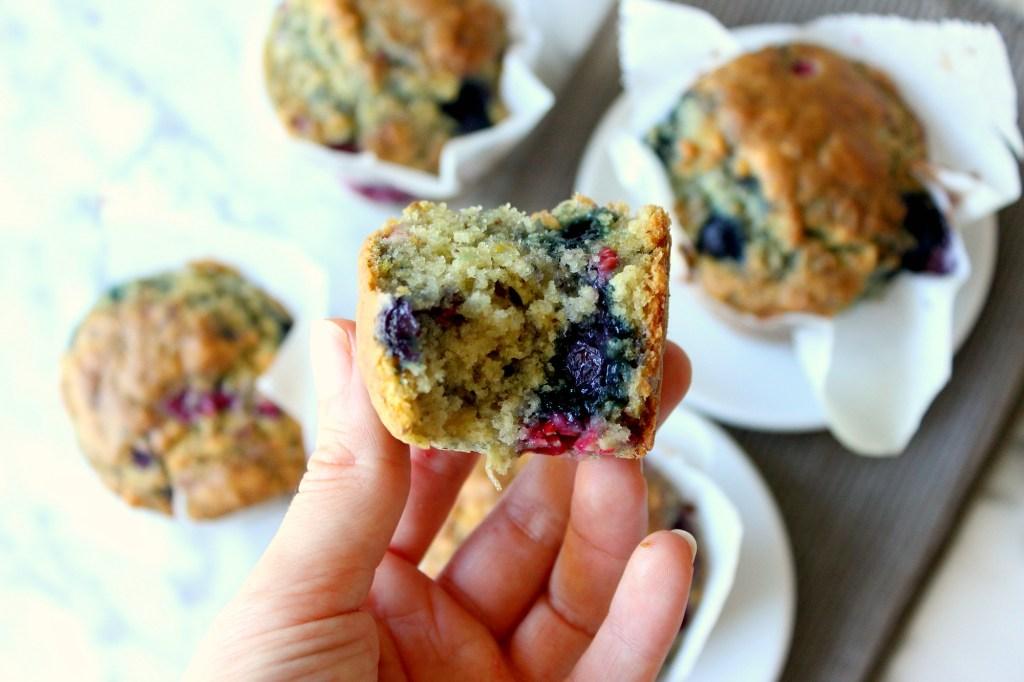 Vegan Bessen & Frambozen Muffins