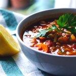 Vegan Harira/Marokkaanse linzensoep