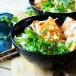 Vietnamese noedelsalade vegetarisch en vegan