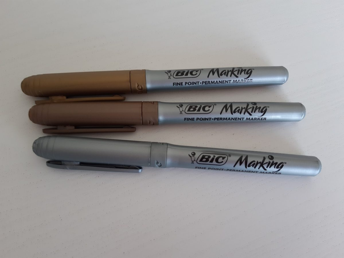 Bic permanent markers